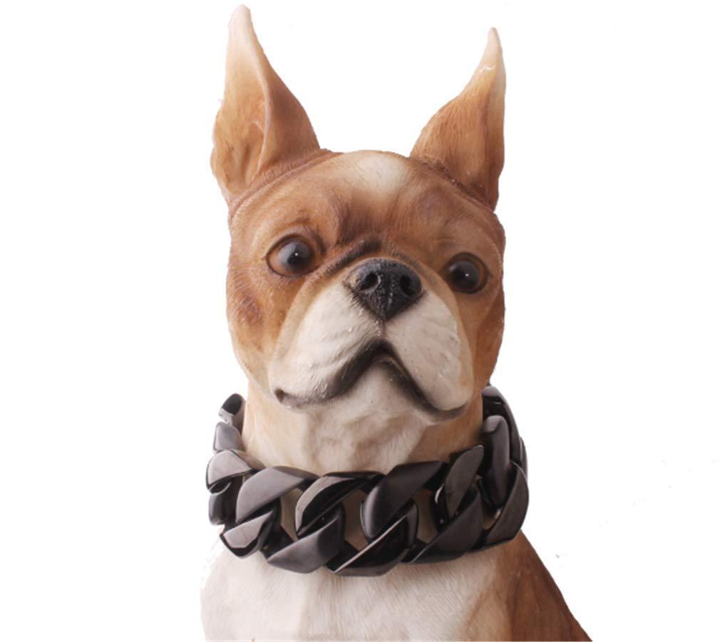 Black 45cm23mm black 45cm23mm MICHEALWU Stainless Steel Training Chain Pitbull Pet Dog Choke Collar Metal Dog Collar Stainless Steel 23mm Black