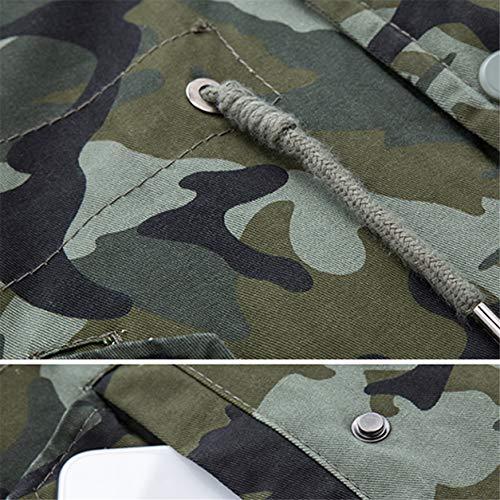 Veste Mâle Mode Pardessus Bellelove 1 Glissière Chaude Arméeverte Boutons Hommes Fermeture Doudoune Hiver Tranchée Coupe À Longue Homme Camouflage Mince vent qSBFx8A