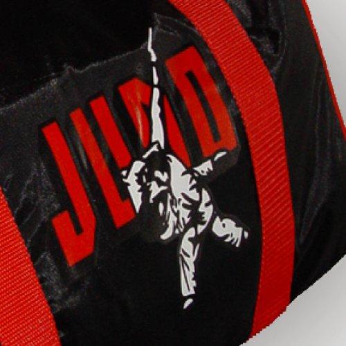 BAY® Sporttasche JUDO schwarz/rot, Kampfsport, Tasche, Trainingstasche, 50 cm KWON SMALL