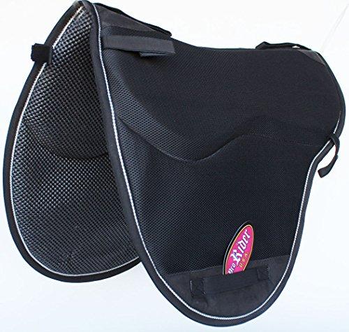 Pro Rider Horse English Endurance Treeless Non-Slip Neoprene Saddle Pad Black 6405BK1