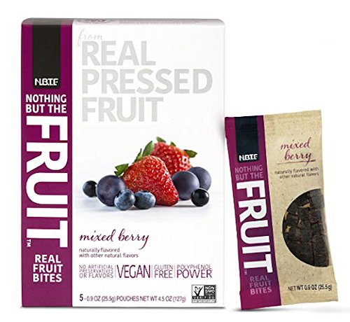 Nothing But the Fruit Real Fruit Bites, Gluten Free, Vegan Snacks, Mixed Berry, 0.9 oz. pouch (40 Count)