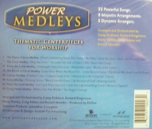 Power Medleys, Thematic Centerpieces for Worship, Accompaniment CD by Brentwood-Benson Music Publishing, Inc.