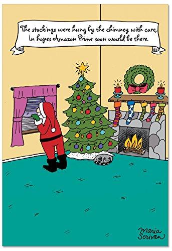 NobleWorks Funny Christmas Card Envelope