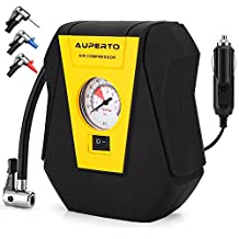 Air Compressor, AUPERTO Auto Tire Inflator,12V Portable Tire Pump for Car, Bicycle,SUV and Other Inflatables
