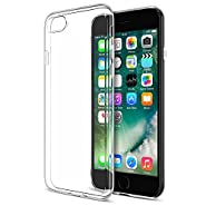 iPhone 7 Plus Case, Maxboost [Liquid Skin] Extreme Thin Case for Apple iPhone 7 Plus 2016 - 0.4mm Ultra Clear Soft Flexible Gel TPU Transparent Skin Scratch-Proof Bumper Cases - Ultra Clear