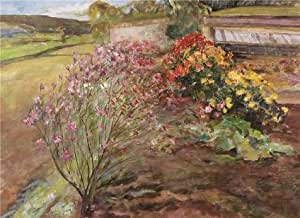 The high quality polyster Canvas of oil painting 'Landscape with Flowers' ,size: 16x22 inch / 41x56 cm ,this Replica Art DecorativeCanvas Prints is fit for Bathroom gallery art and Home decor and Gifts