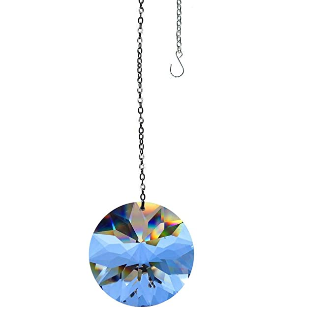 Large Suncatcher Rainbow Maker Clear Window Sun Catcher - Great for Feng Shui 100% Real Crystal 40mm Round