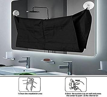 JT Barba Delantal del Cabo con 2 ventosas para espejo,deje que su baño de mantener limpio: Amazon.es: Hogar
