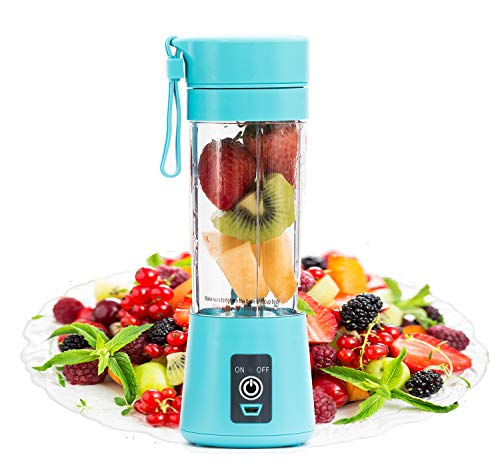 Portable Blender by FlowerIce,Personal Size Blender Juicer Cup,USB Rechargeable Smoothies and Shakes Juicer Cup