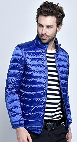 Inverno Leggero Packable Santimon Giù Mens Piumino Indossare Disponibili Blu 10 Doppia Scuro Faccia Colori wxXYFqR