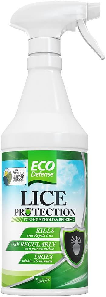 Eco Defense Lice Treatment for Home, Bedding, Belongings, and More - Safe Organic, Natural, and Non Toxic Ingredients - Works Fast to Kill & Repel Lice from Your Environment (32 oz)