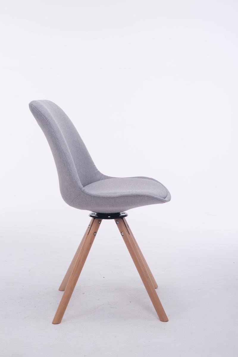 Fine and Quality España El material de la silla del invitado Troyes Swivelling Natura Alrededor gris: Amazon.es: Jardín