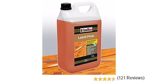 Aceite de lino 5 litros, protección natural para la madera ...