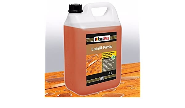 Aceite de lino 5 litros, protección natural para la madera, cuidado y tratamiento de muebles, sin resina: Amazon.es: Bricolaje y herramientas