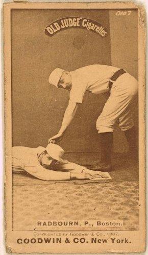 Photo: Old Hoss Radbourn, Boston Beaneaters, baseball,1887