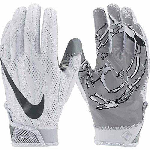 Nike Men's Superbad 4 Football Gloves White/Black/Grey GF0494 101 Size Small