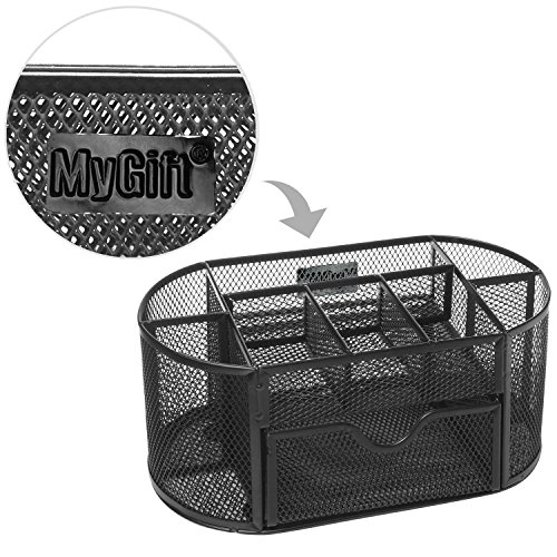Mygift Space Saving Black Metal Wire Mesh 8 Compartment