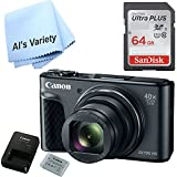 Canon SX730 Digital Camera w/40x Optical Zoom & 3 Inch Tilt LCD - Wi-Fi, NFC, & Bluetooth Enabled (Black) with Free SanDisk Ultra 64GB SDHC Class 10 Card