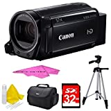 Canon VIXIA HF R700 Full HD Black Camcorder Deluxe Bundle - Black with 32GB SDHC High Speed Memory Card