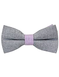 OCIA® Handmade Casual Wedding Party Pre-tied Men's 100% Cotton Bow Ties - M730 Original