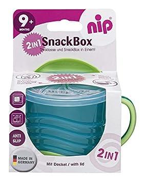 blau nip 38543-51 Snackbox 2in1 Eat Green aus nachwachsenden Rohstoffen Made in Germany ab 9 Monaten