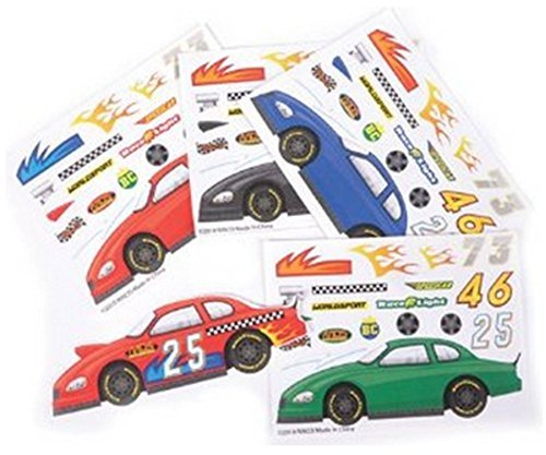 ~ 24 ~ Make-a-Race Car Sticker Sheets -