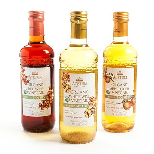 Acetum Organic White Wine Vinegar with the 'Mother' - 16.9 oz