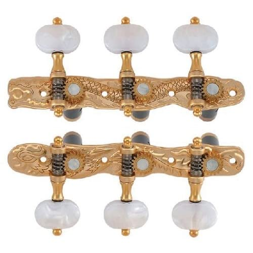 Golden Gate F-2107 Classical Guitar Tuners - 2 Planks (3+3) - Gold