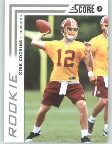 2012 Score Football Card #343 Kirk Cousins RC - Washington Redskins (RC - Rookie Card)(NFL Trading Card) ()