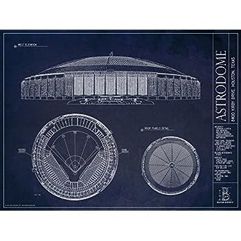 Amazon.com: Houston Astrodome Blueprint Print - Unframed ...