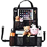 MIU COLOR Car Back Seat Organizer with Larger Storage - 11 Compartments including Touch Screen iPad Holder, Strong Buckles - Great Travel Accessory