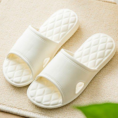 casa bianca bagno Fankou di 36 37 morbido con nbsp;Pavimento bagno scivolare female nella spessa camera estate coppie maschio pantofole home scarpe una wqSCqZ