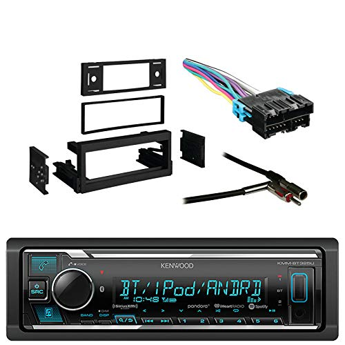 Kenwood Receiver with AM/FM Tuner with Bluetooth with Metra Dash Kit for GM Truck and Van 95-05, Metra Radio Wiring Harness and Metra Antenna Adapter -