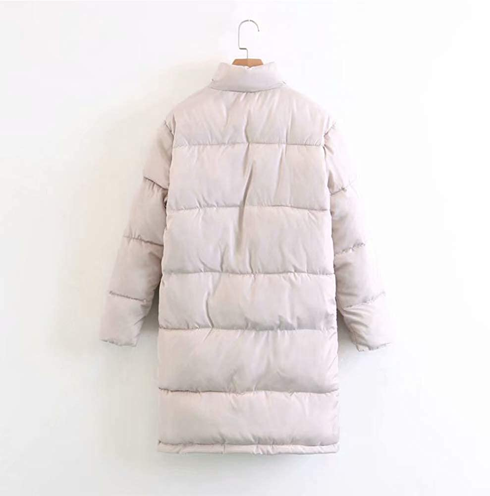 KINDOYO Womens Winter Coat Fashion Quilted Puffer Long Jacket Stand Collar Parka