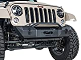 Havoc Offroad HPG-42-10208 Offroad Eliminator Stubby Front Bumper with Bull Bar and Winch Mount (2007-2018 Jeep Wrangler JK)