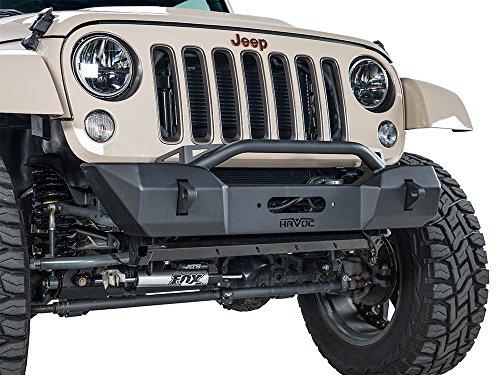 Havoc Offroad Eliminator JK Stubby Front Bumper w/ Bull Bar & Winch Mount 2007-2017 Jeep Wrangler
