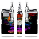 Innokin itaste VTR Vape E-Cig Mod Box Vinyl DECAL STICKER Skin Wrap / Multi Colored Spiral Threads Smoke Mist Vapor Vape Wisps Curls Fire Printed Design