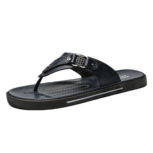 cc78d403bac05d Challyhope Men Comfortable Flip-Flops Thongs Sandals Beach Slippers Summer  Casual Slides Shoes (US