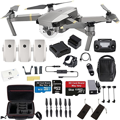 DJI Mavic Pro Platinum Fly More Combo Travel Bundle: 2 Extra Batteries, Professional Case and More by DJI