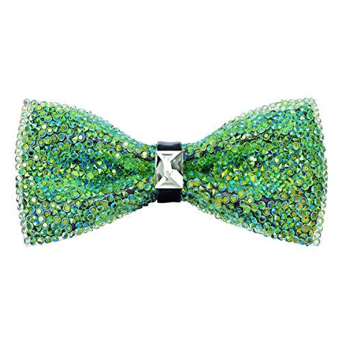 Pre-Tied Sparkle Bow Tie - (Blue Green Sparkle)