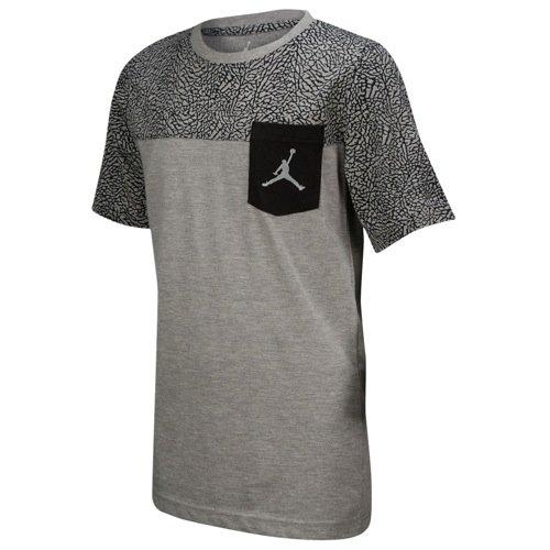 Jordan Jumpman Short Sleeve Graphic Pocket T-Shirt (Small / 8-10 Years, dark grey heather/black)