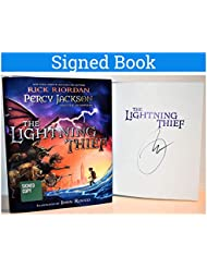 Percy Jackson and the Olympians Lightning Thief Illustrated Rick Riordan SIGNED BOOK COA
