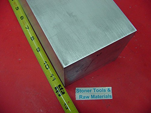 2 pieces 4'' X 4'' ALUMINUM 6061 SQUARE SOLID BAR 12'' long T6 Flat New Mill Stock by Stoner Metals