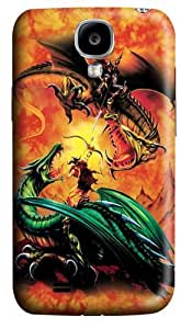 The Duel Dragon Polycarbonate Hard Case Cover for Samsung Galaxy S4/Samsung Galaxy I9500 3D