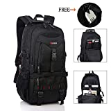 Travel Laptop Backpack,17-Inch Computer Waterproof Daypack, Outdoor Travel Anti-Theft Backpack, School Student Bag Hiking Camping Backpack for Men (Black)