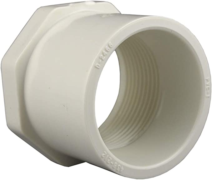 x 1-1//2 in Dia MPT To S  Pipe Adapter Dia Charlotte Pipe  2 in