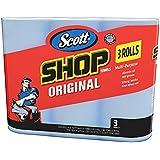 Scott 75143 Scott Shop Towels, Blue (3 Rolls, 55 towels/roll, 165 towels total)