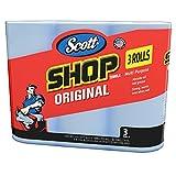 Scott 75143 Scott Shop Towels, Blue (10 packs of 3 Rolls, 55 Towels/Roll, 165 Towels/Pack, 1,650 Towels)