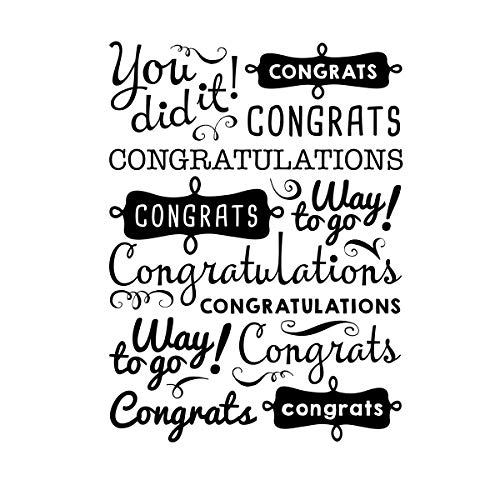 Darice 30041359 Embossing Folder, Congrats Phrases, 4.25 x 5.75 Inches