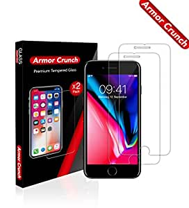 "[Armor Crunch] iPhone 8, 7, 6S, 6 Screen Protector Glass, Tempered Glass Screen Protector for Apple iPhone 8, 7, iPhone 6S, iPhone 6 [4.7"" inch]"